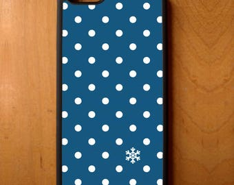 Holiday Snowflake Polka Dot Phone Case Cover Samsung Galaxy S6 S7 S8 Note Edge Apple iPhone 4 5 5S 5C 6 6S 7 SE Plus + LG G3 skin rubber