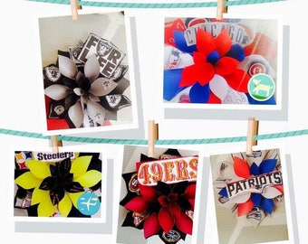 Paper flowers, NFL, Wall Flowers, Giant paper flowers, Wall art, Team pride, Party flowers **FREE SHIPPING **