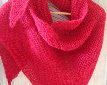 Trendy Fuchsia mohair shawl