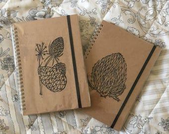 A5 Hardback Handprinted Lined Notebook