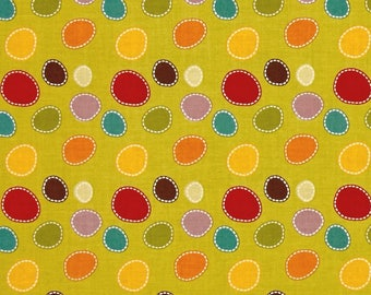 patchwork fabric child lime Giraffes crossing by Riley Blake