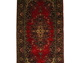 Persian Kirman Hand Knotted Carpet Circa 1990