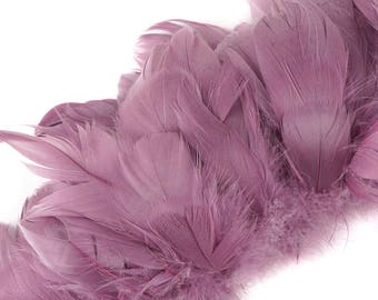 Goose Nagorie Feathers - Strung  1 Yard GNWS5-6YD