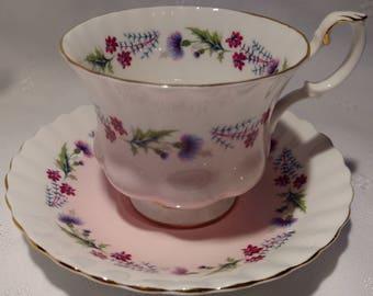 Royal Albert Bone China Tea Cup and Saucer # 4473