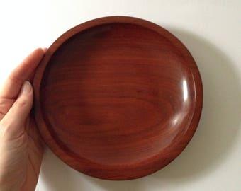 Vintage turned wood dish