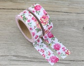 Washi Tape - Decorative Tape - Paper Tape - Planner Tape - Deco Paper Tape - Planner Washi - Floral Washi Tape - Roses