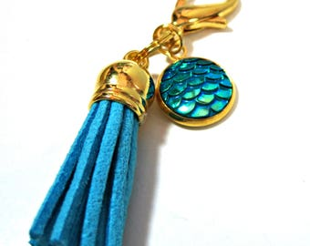 Tassel Planner Charm - Mermaid Scales Charm - Traveler's Notebook Charm - Planner Accessory - Purse Charm - Planner Charm - Zipper Pull