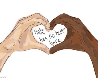 Yard Sign - Hate Has No Home Here