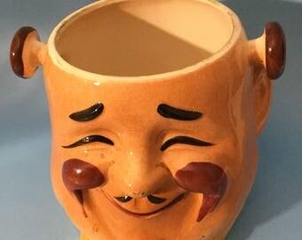 Ceramic Oriental Plant Holder
