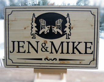 Cottage Signs - Wood sign,Outdoor sign,Carved wood sign,Cedar sign,Beautiful custom carved wood signs.