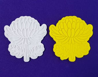 Chrysanthemum Cookie Cutter and Stamp