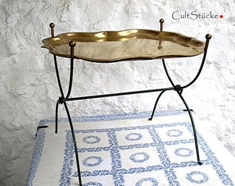 Vintage terrific tray table brass