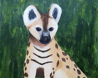 Hyena - Original Painting 16 x 20