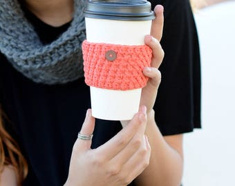 Crochet Coffee Sleeve, Coffee Cup Sleeve, Drink Warmer, Beverage Insulator, Tea Cup Cover, Cup Warmer, Re-useable, Eco-friendly