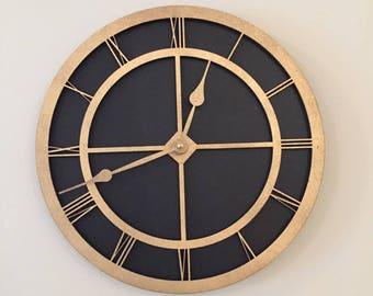 Modern Wall Clock- Black Clock- 3D Clock
