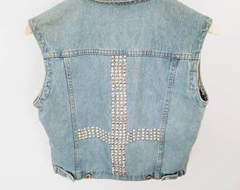 Denim vest / waistcoat