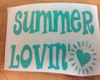 Summer Lovin' Vinyl Decal