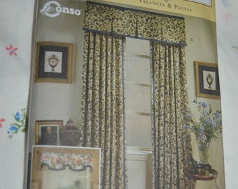 Simplicity 8799 Home Window treatments sewing pattern - UNCUT Sewing Pattern - UNCUT  Valance and Panels
