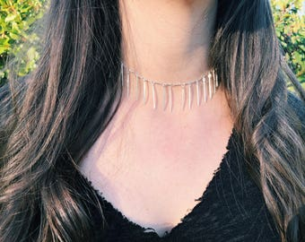 Spike Charm Choker / Chain Collection / Gold Choker / Silver Choker / Spike Choker / Chain Choker
