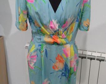 1980s Ungaro silk dress size 12