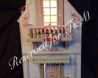 House Shabby 1:12. Hand painted