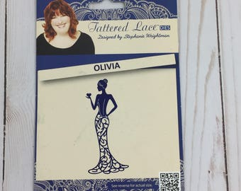 NEW - Tattered Lace Metal Die, Olivia | Dress Die | Lace Dress | Scrapbooking