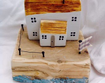 Cottage by the sea...; Driftwood cottage; Mother's Day gift; handmade with love