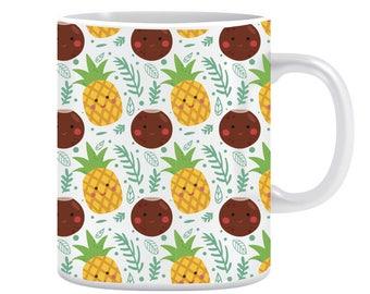 Pineapple and coconut mug