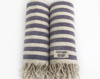 Extra Large Turkish Towels Set of 2 Purple Bath Towel Set Beach Towel Set  Guest Towels Christmas Gift Housewarming Gift Corporate Gift Idea