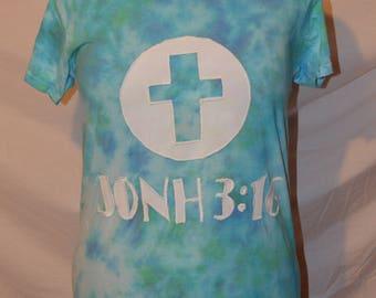 Tye-Dye John 3:16 T-Shirt