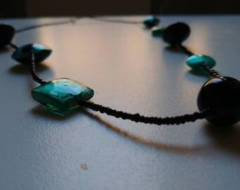 Greener than black necklace