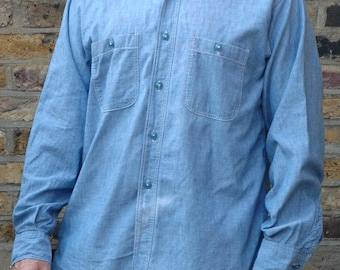 Vintage 1950s U.S Navy chambray shirt