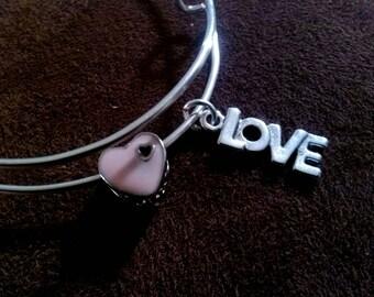 Adjustable Bangle Bracelet / Charm Bracelet / Bangle Bracelet