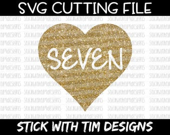 Seven Birthday Svg Birthday Svg Seven Svg 7th birthday svg Birthday Girl PNG Cut Files svg files for Silhouette cameo svg files for Cricut