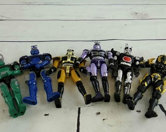 Bandai Beetle Borgs Power Rangers Villain Lot of 6 Black Jungle Furry Blue Purp