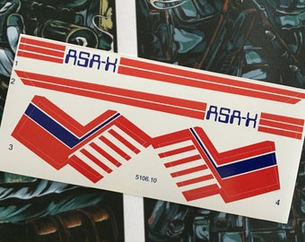 Star Wars X Wing Glasslite ASA-X custom vintage repro die cut stickers/decals/labels