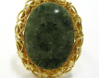 18K Moss Agate Ring - X3145