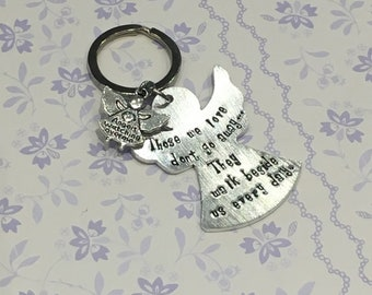 Personalised angel keyring, bereavement gift, memorial keepsake, sympathy gift, personalised memorial gift, baby loss, angel baby gift