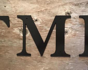 """12"""", Any Size - Painted Metal Letters and Numbers - Personalize - Any Font"""