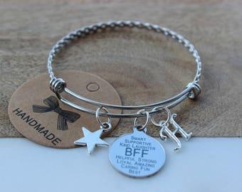 Simple BFF bracelet/Simple best friend bracelet/Best bitches bracelet/Simple best friend gift/Best Friend Bracelet for Women/Bestie gift ide