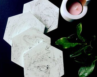Marble concrete coasters - handmade ***SALE