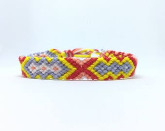 Friendship Bracelet strap bracelet red/yellow/blue 2.70