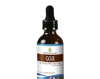 Goji Alcohol FREE Liquid Extract, Organic Goji (Lucii, Lycium Barbarum) Dried Berries