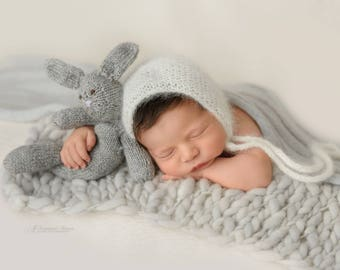 Silver Thin and thick blanket/light grey blanket/gray blanket/bump blanket/Newborn Photography Props/layering blanket/photo prop/preorder