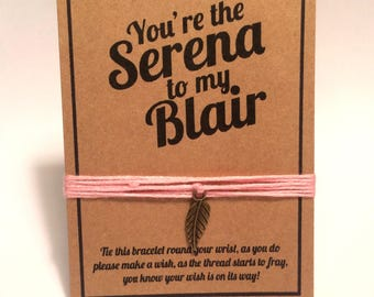 Gossip Girl Serena Blair birthday wish charm bracelet