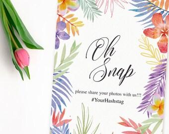Wedding Snapchat Filter Sign, Birthday Snapchat Filter Sign, Birthday Luau Decor, Snap filter Sign, Tropical snapchat Sign, Tropical Wedding