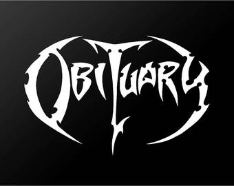 Obituary Death Metal Band Vinyl Decal Car Window Laptop Sticker