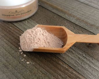 Powdered mask, sensitive mask, face mask, herbal and clay mask, powder mask, natural, pink clay, skincare routine, facial beaty routine