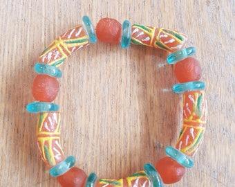 Bracelet EMEKA en perle de verre du Ghana by MamaLua design