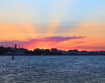 Beautiful Newcastle Sunset Photo Print